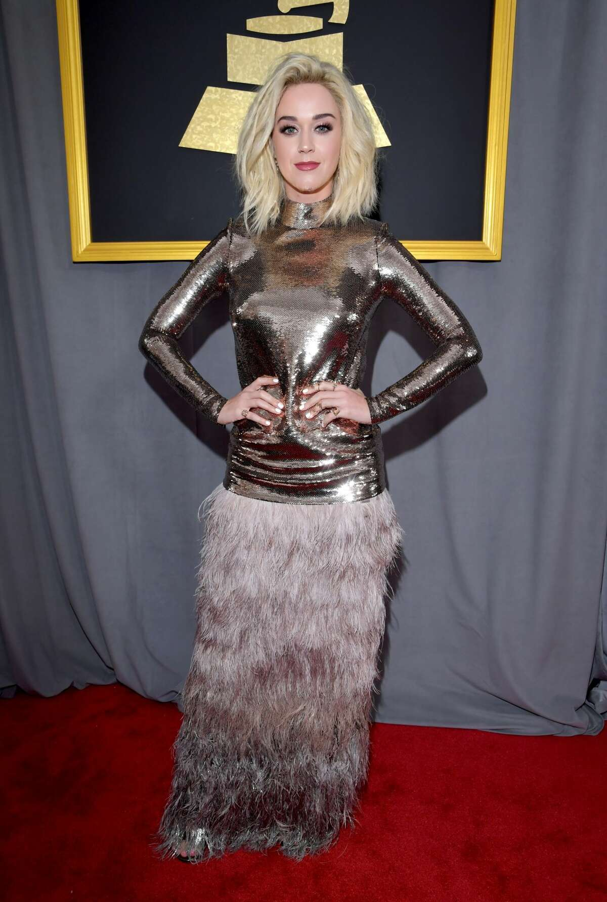 LOS ANGELES, CA - FEBRUARY 12: Recording artist Katy Perry attends The 59th GRAMMY Awards at STAPLES Center on February 12, 2017 in Los Angeles, California. (Photo by Lester Cohen/WireImage)