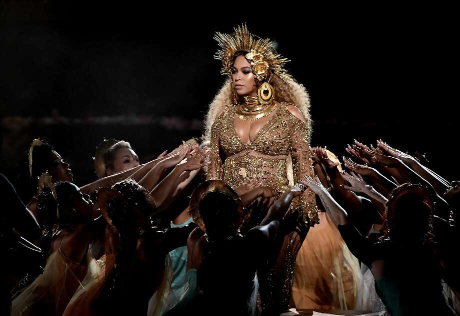 Recording artist Beyonce performs onstage during The 59th GRAMMY Awards at STAPLES Center on February 12, 2017 in Los Angeles. Photo: Kevin Winter, Getty Images For NARAS