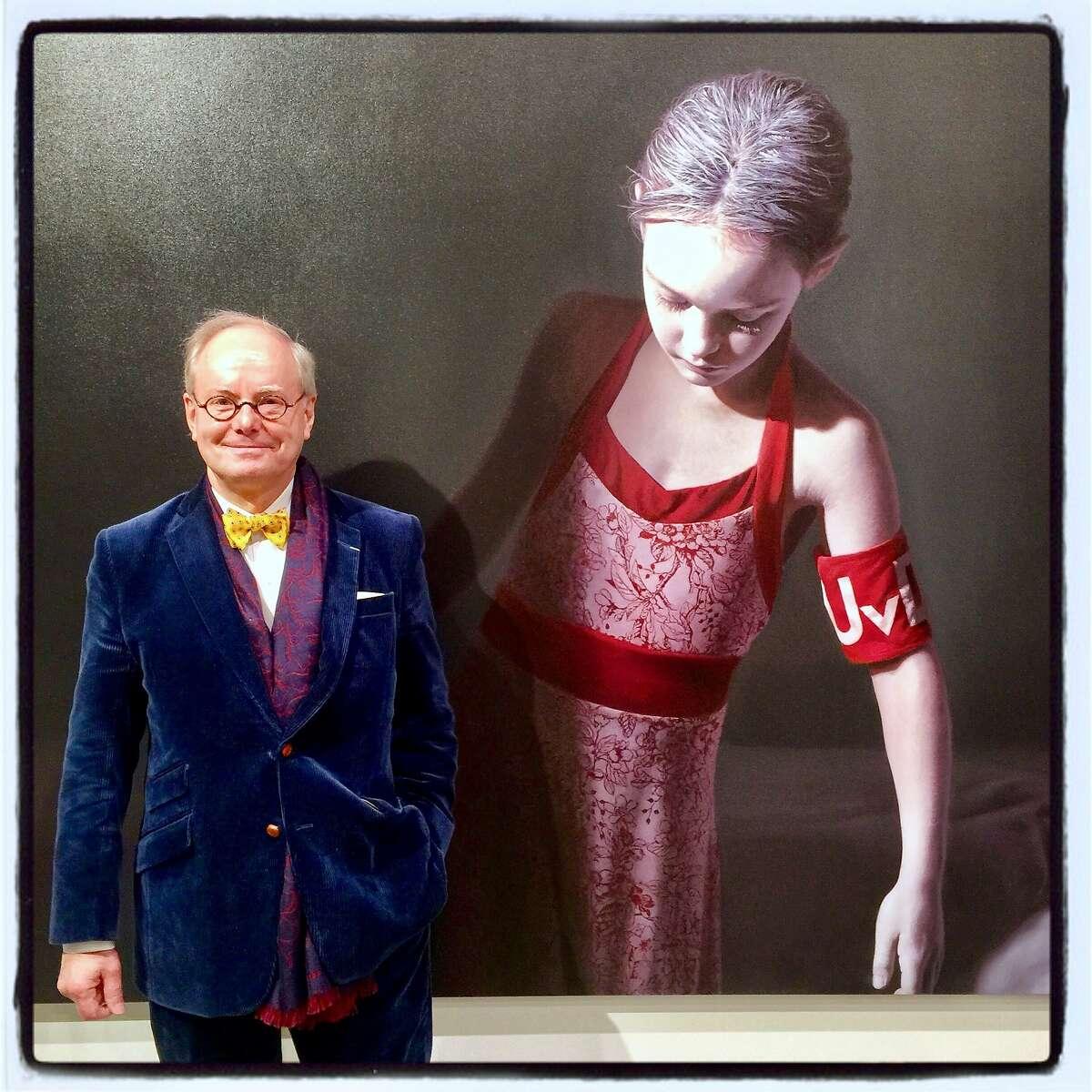 Gallerist Martin Muller opened his new Tenderloin space with a Gottfried Helnwein exhibit. Jan. 9 2017.