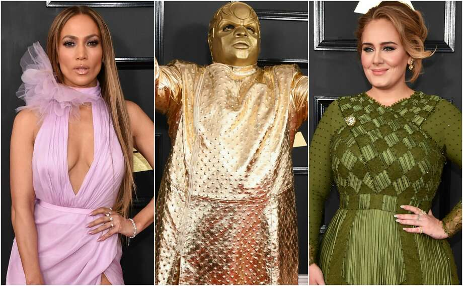 >>Keep clicking to see the gorgeous and outrageously memorable looks that came down the 59th Annual Grammy Awards carpet. Photo: Getty Images