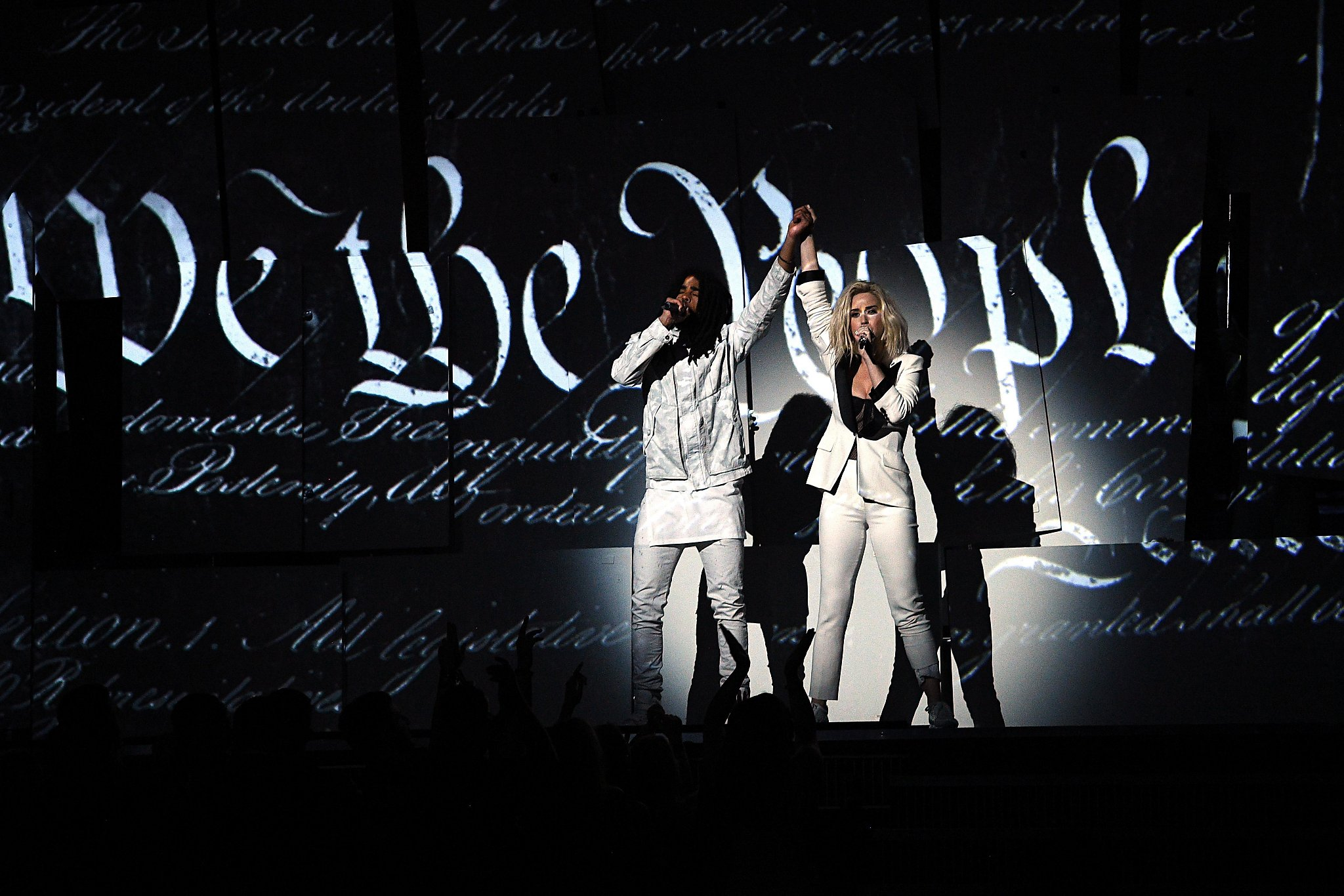 Politics in the spotlight at the Grammys