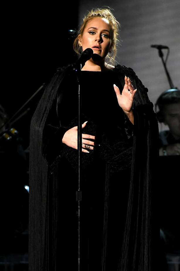 LOS ANGELES, CA - FEBRUARY 12:  Recording artist Adele performing a tribute to George Michael onstage during The 59th GRAMMY Awards at STAPLES Center on February 12, 2017 in Los Angeles, California.  (Photo by Kevork Djansezian/Getty Images) Photo: Kevork Djansezian, Getty Images