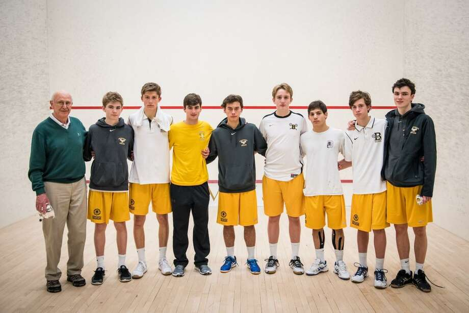 The Brunswick School squash team finished second at the U.S. High School Team Squash Championships Sunday at Westminster School. Photo: Contributed Photo