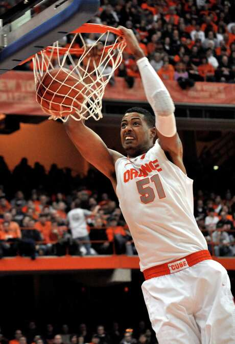Fab Melo, who died Saturday night in his native Brazil, was the Big East defensive player of the year in 2013. Photo: Kevin Rivoli, FRE / AP2012