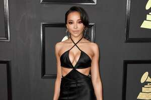 LOS ANGELES, CA - FEBRUARY 12:  Singer-songwriter Tinashe attends The 59th GRAMMY Awards at STAPLES Center on February 12, 2017 in Los Angeles, California.