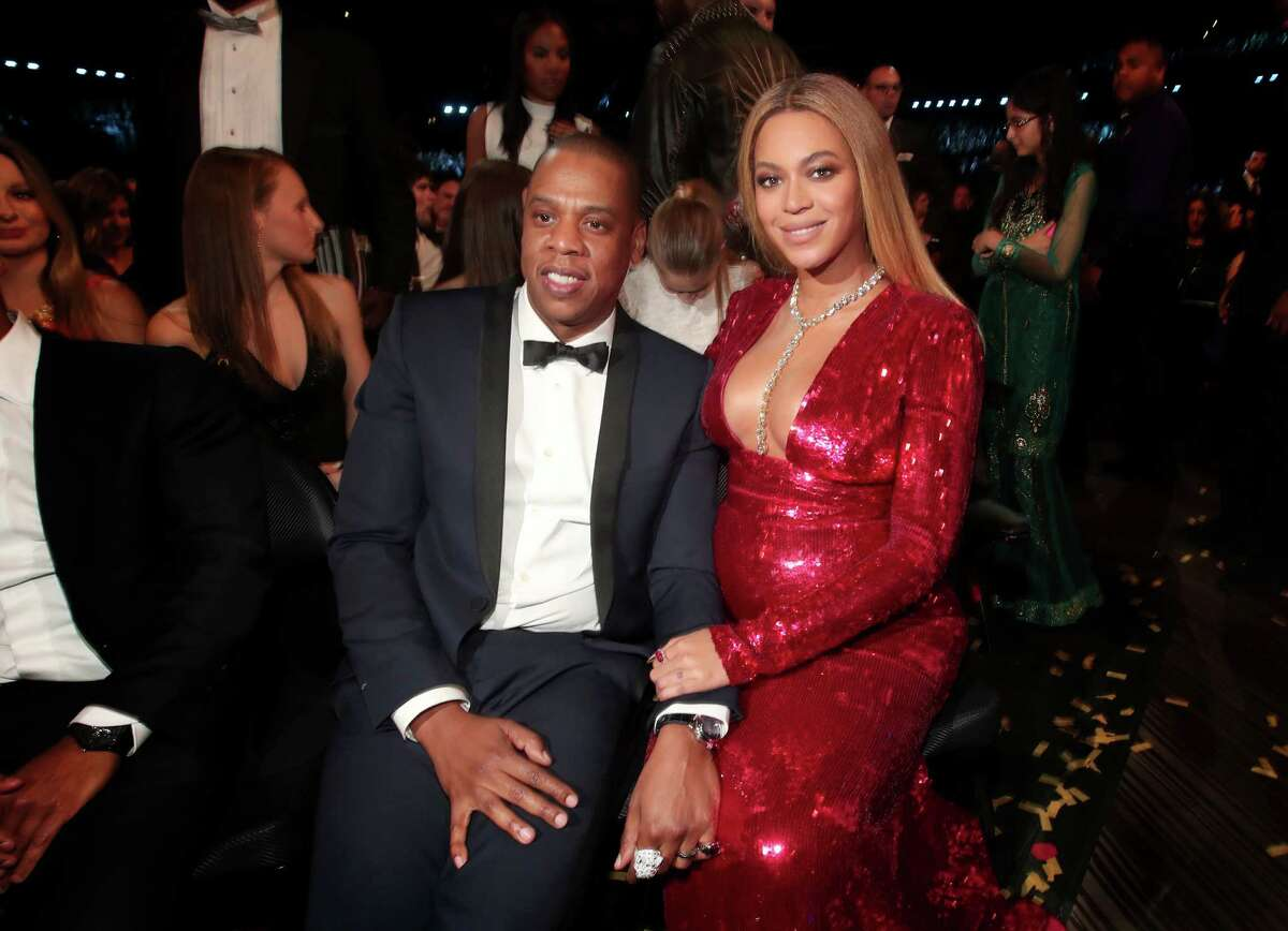 Hip Hop Artist Jay-Z and singer Beyonce during The 59th GRAMMY Awards at STAPLES Center on February 12, 2017 in Los Angeles, California.