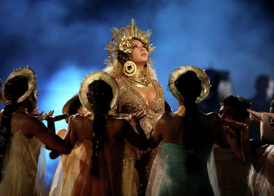 Beyoncé at the 59th annual Grammy Awards on Sunday, Feb. 12, 2017, in Los Angeles. Photo: Matt Sayles, INVL / 2017 Invision