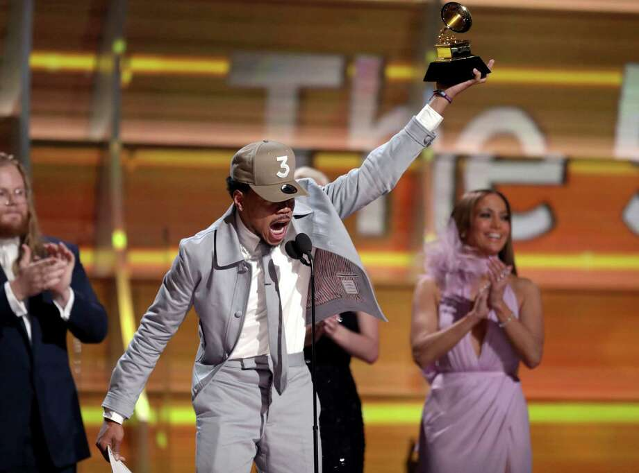 Chance The Rapper accepts the award for best new artist at the 59th annual Grammy Awards on Sunday, Feb. 12, 2017, in Los Angeles. (Photo by Matt Sayles/Invision/AP) Photo: Matt Sayles, INVL / 2017 Invision