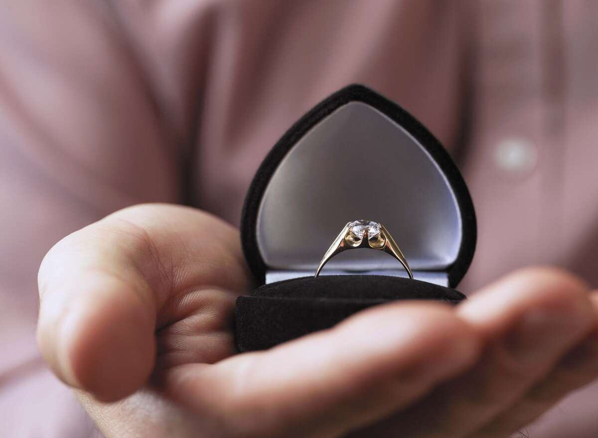 Engagementring: The average cost of an engagement ring for Houston brides and grooms is $7,368. Nationally, it's $6,163.