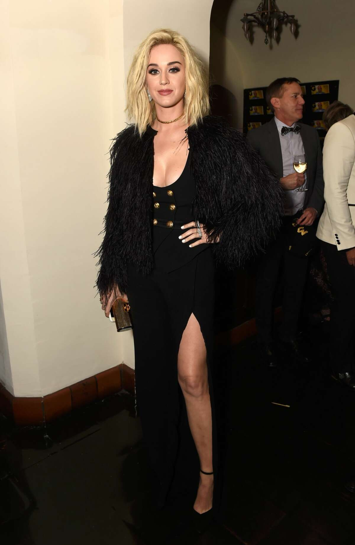 Singer Katy Perry attends GQ and Chance The Rapper Celebrate the Grammys in Partnership with YouTube at Chateau Marmont on February 12, 2017 in Los Angeles, California.