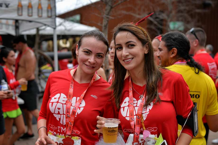In a an early Valentine's Day show of love and devotion, many in San Antonio took to the streets on Sunday, Feb. 2, 2017, for the 6th Annual Be My Valentine 5K Run/Walk from Alamo Beer Brewery. Photo: By Kody Melton, For MySA