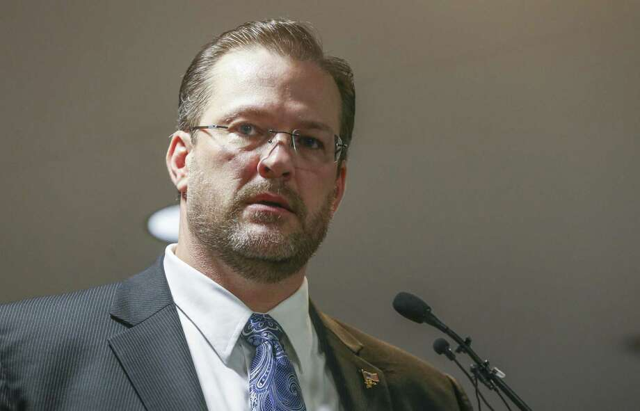 James Thompson speaks in Wichita, Kan., on Saturday, Feb. 11, 2017 after he was selected by a group of delegates to represent the Democratic Party in a special election scheduled for April 11 to fill a vacancy for the Kansas 4th congressional district. The seat, held by Republican Mike Pompeo, was vacated when Pompeo was selected by President Donald Trump to head the Central Intelligence Agency. (Travis Heying/The Wichita Eagle via AP) Photo: Travis Heying, MBO / Associated Press / The Wichita Eagle