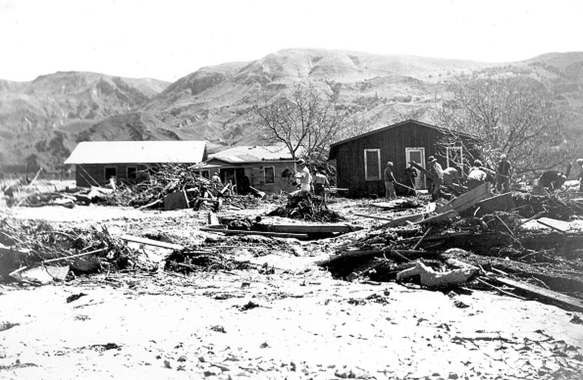Saint Francis Dam flood in Santa Paula, California. Image courtesy USGS. March 18, 1928. (Photo by Smith Collection/Gado/Getty Images).