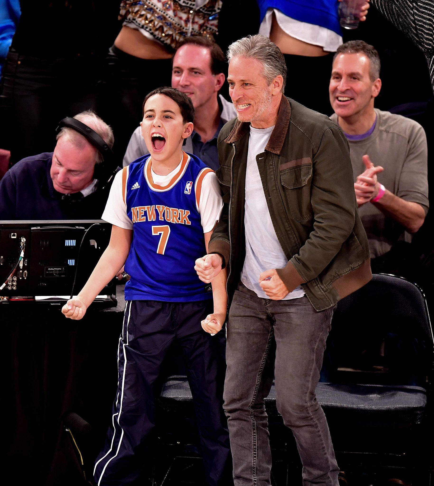 Madison Square Garden: Celebrities Sit Courtside At Madison Square Garden To Root