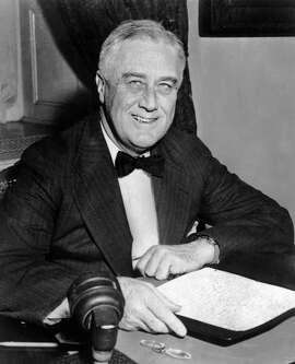 An undated portrait of US President Franklin D. Roosevelt. (Photo credit should read AFP/AFP/Getty Images)