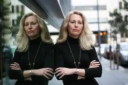 Ex-CIA operative Valerie Plame Wilson stands for a portrait on Minna Street in San Francisco, California, on Monday, Feb. 13, 2017.