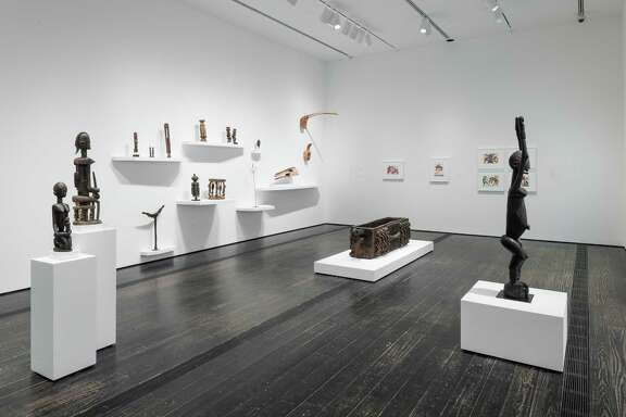 """A view of """"ReCollecting Dogon,"""" which is on view at the Menil Collection through July 9."""