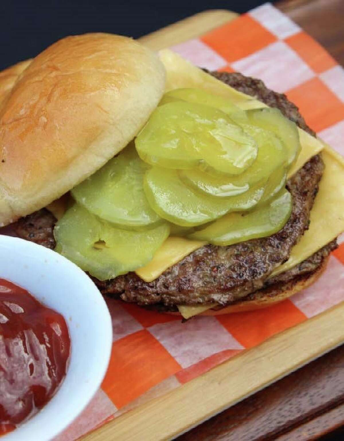 BBVA Compass Stadium's new food selections include hand-crafted double-meat cheeseburger with secret sauce and toasted buttery bun.