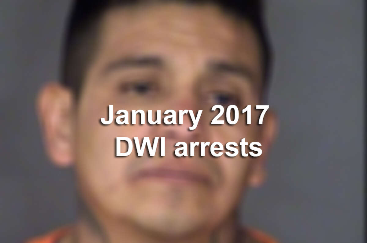January 2017 DWI arrests
