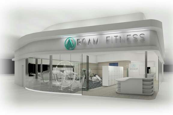 -- ILLUSTRATION MOVED IN ADVANCE AND NOT FOR USE - ONLINE OR IN PRINT - BEFORE FEB. 12, 2017. -- In an undated handout image, a rendering of a RoamFitness gym. RoamFitness is an airport gym chain that has gyms situated behind security where travelers can either pay for a day pass or become annual members. (Handout via The New York Times) -- NO SALES; FOR EDITORIAL USE ONLY WITH AIRPORT LOUNGES ADV12 BY SHIVANI VORA FOR FEB. 12, 2017. ALL OTHER USE PROHIBITED. --