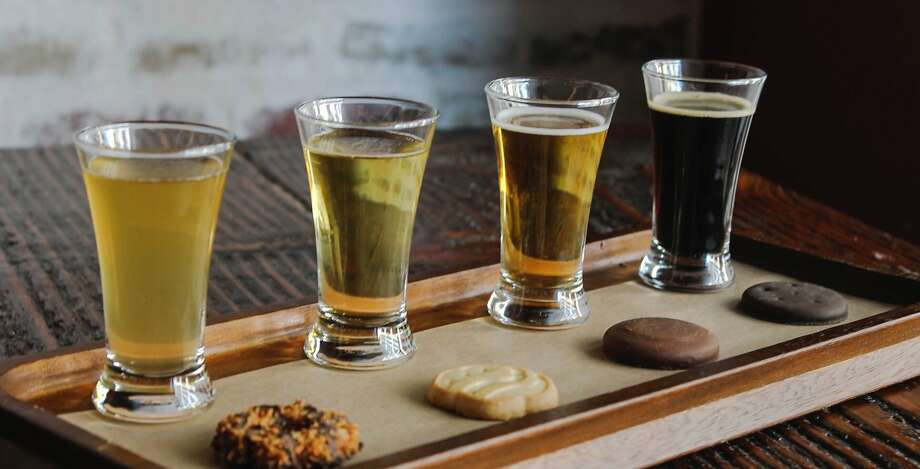 The General Public restaurant is offering four Girl Scout Cookies paired with beers from Real Ale Brewing from Feb. 18-March 3. Photo: Girl Scout Cookies, Courtesy