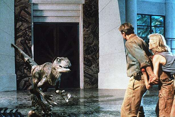 "MOVIE STILL FROM "" JURRASIC PARK """