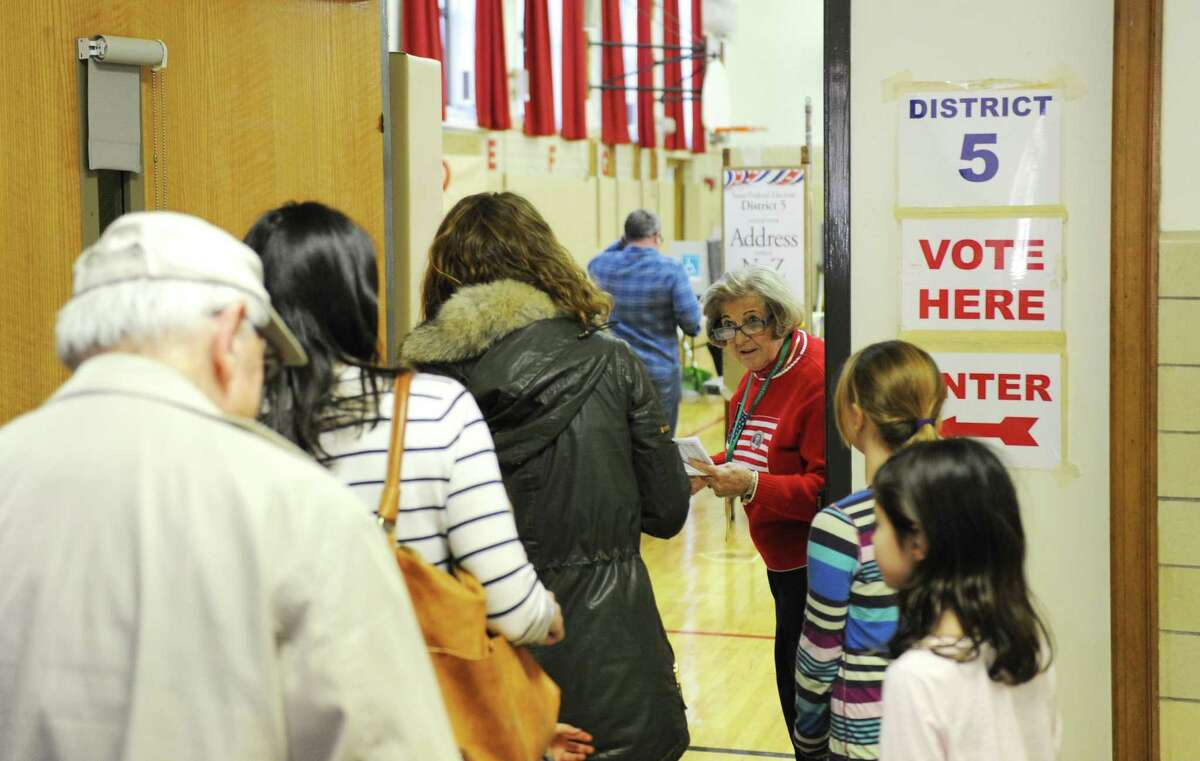 Greenwich voters turn out to vote in the 2016 Presidential Election at Riverside School, Tuesday, Nov. 8, 2016.