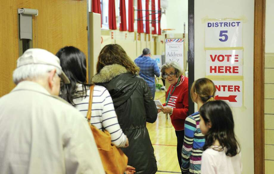Greenwich voters turn out to vote in the 2016 Presidential Election at Riverside School, Tuesday, Nov. 8, 2016. Photo: Tyler Sizemore / Hearst Connecticut Media / Greenwich Time