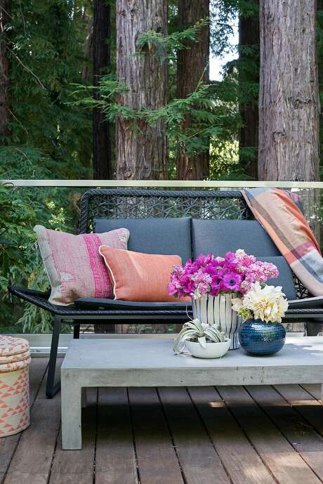 Regan Baker designed the Marin County home of Ryan and Molly Graves tucked into a redwood grove. Photo: Sarah Hebenstreit, Modern Kids Co.