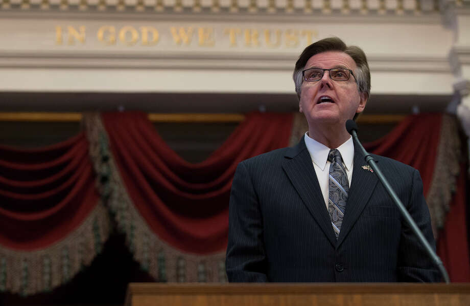 Texas Lt. Gov. Dan Patrick speaks before the State of the State address during a joint session of the House and Senate, Tuesday, Jan. 31, 2017, at the Texas Capitol in Austin, Texas. (AP Photo/Stephen Spillman) Photo: Stephen Spillman, FRE / FR171427 AP