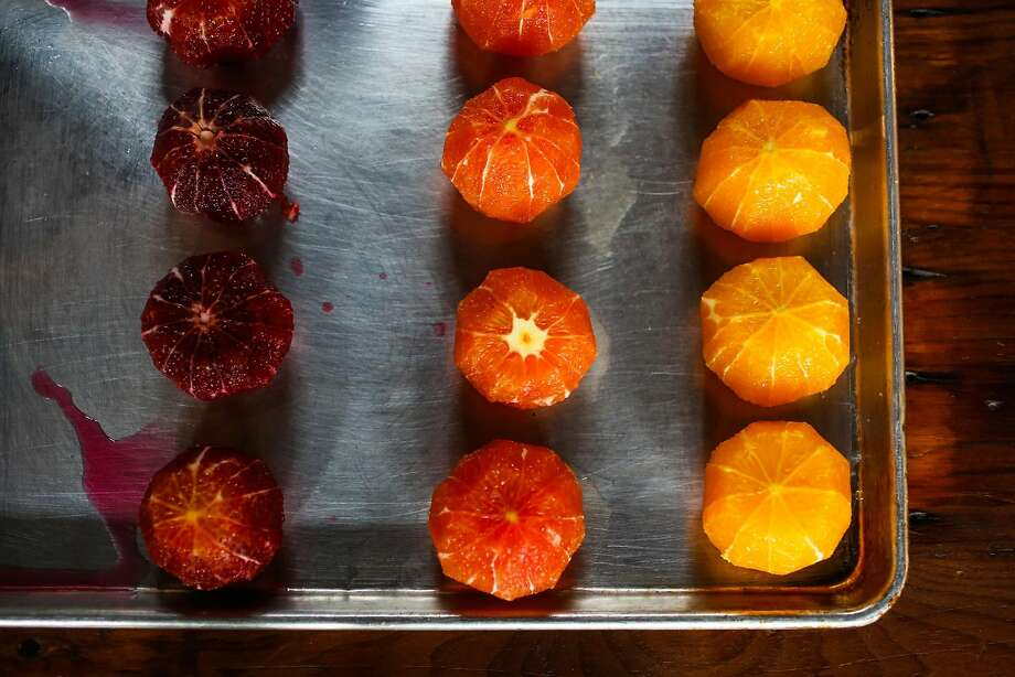 Peeled and pithed citrus for winter citrus salad. Photo: Gabrielle Lurie, The Chronicle