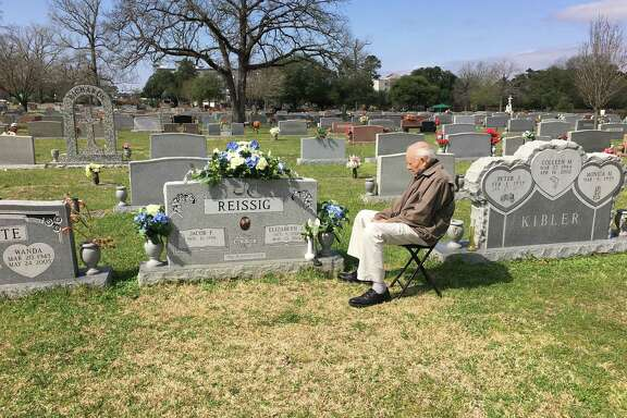 Jake Reissig, 88, visits the grave of his wife every day and talks to her about their 64 years of marriage.