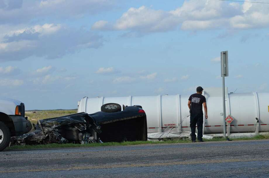Two occupants in a pickup truck were killed Monday when the vehicle and a truck collided on Texas 359. Photo: /