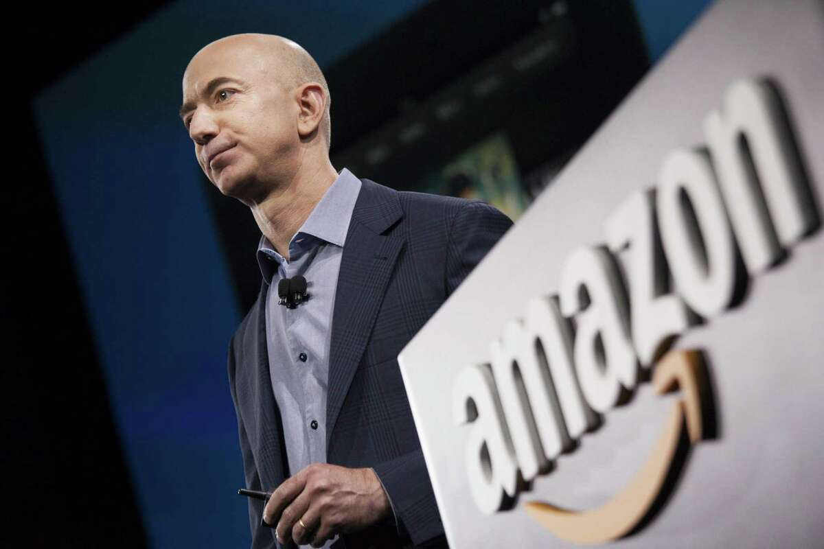Amazon CEO Jeff Bezos in June 2014 in Seattle, Wash. (Photo by David Ryder/Getty Images)