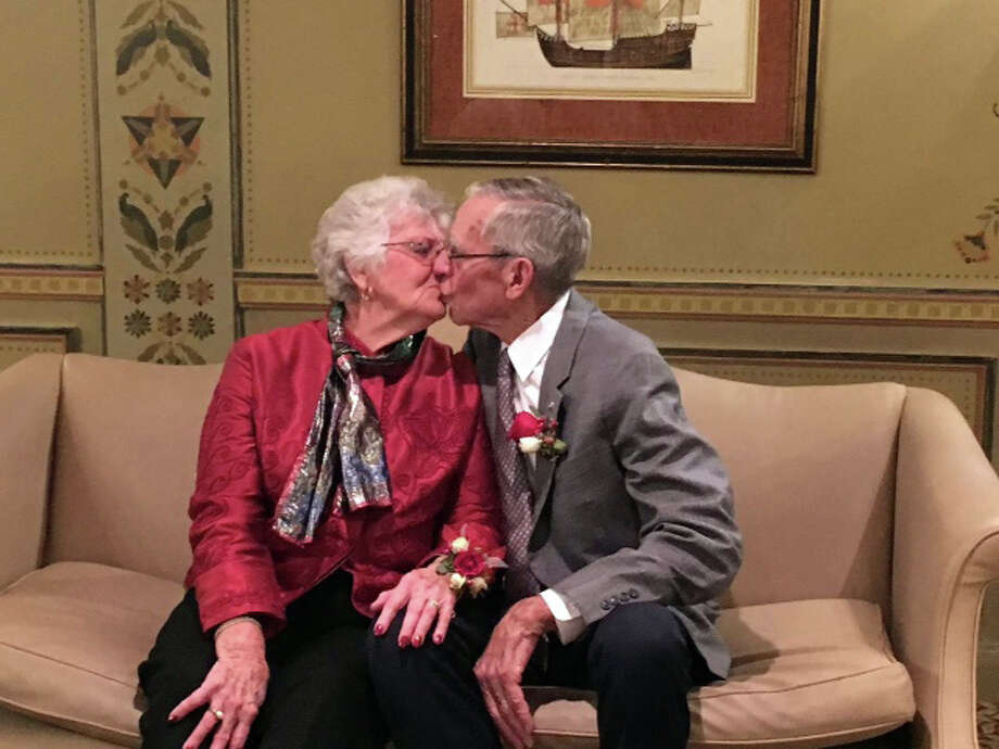 Ted and Peg Leipprandt, of Pigeon, have been married for 60 years. Photo: Submitted Photo