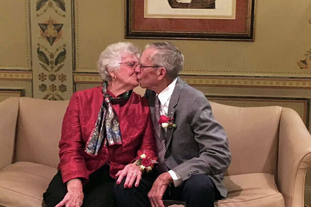 Ted and Peg Leipprandt, of Pigeon, have been married for 60 years.