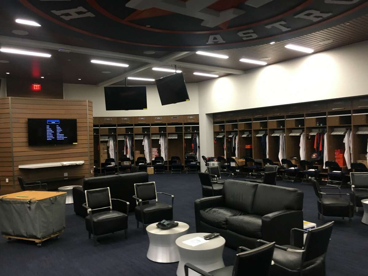 A look inside the clubhouse at the Astros' new spring training complex.