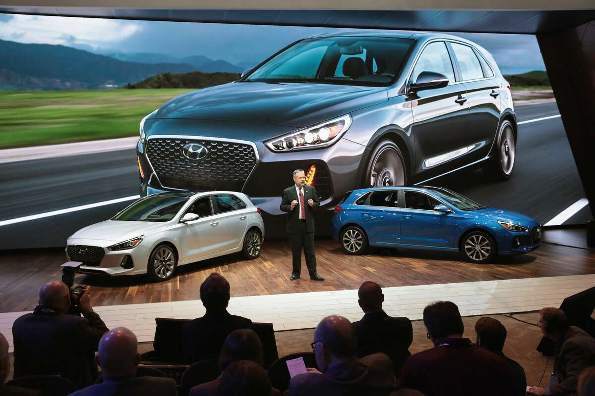 Make : Hyundai Model: Elantra GT and GT Sport 2018: Introduced at the Chicago Auto Show on Feb. 9, 2017, the GT hatchback is lower and wider than the Elantra sedan.