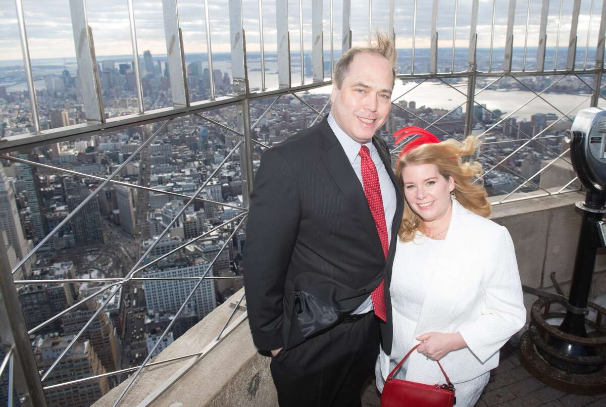 Connecticut residents Catherine Fiehn Malat and Eric LeStrange were married at the Empire State Building on Valentine's Day 2017. The couple won the Empire State Building's annual contest for a Valentine's Day wedding based on their unusual love story.