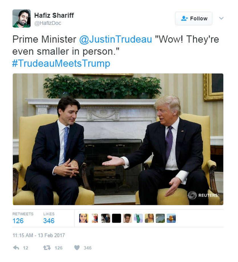 When Donald met Justin. Photo: Twitter