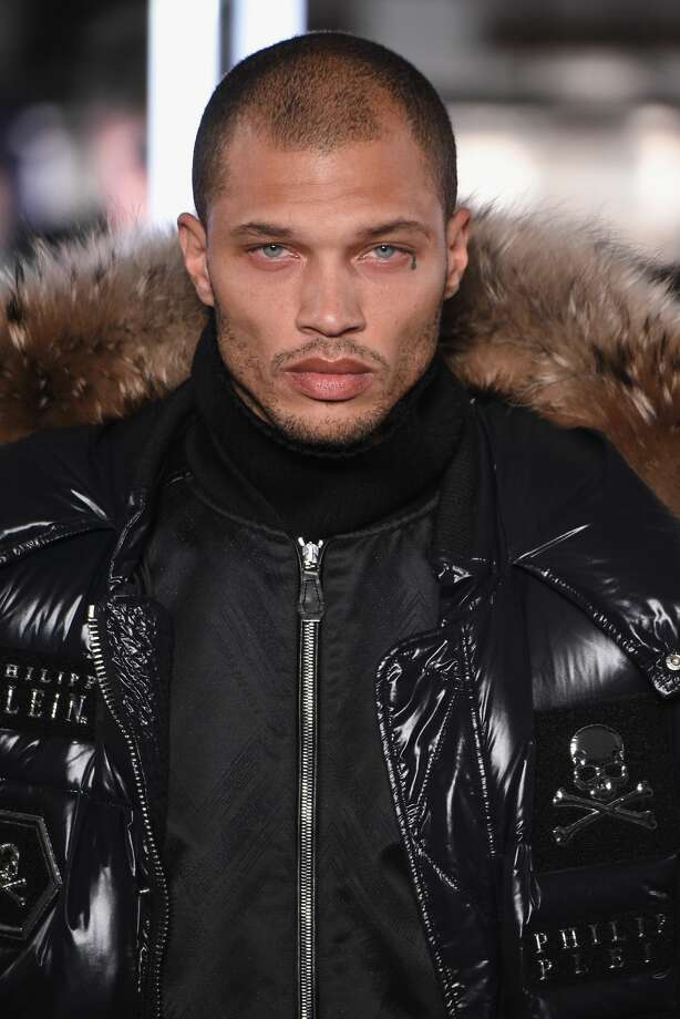 Model Jeremy Meeks the runway for the Philipp Plein collection during New York Fashion Week Photo: Albert Urso/Getty Images For New York Fashion Week: The Shows