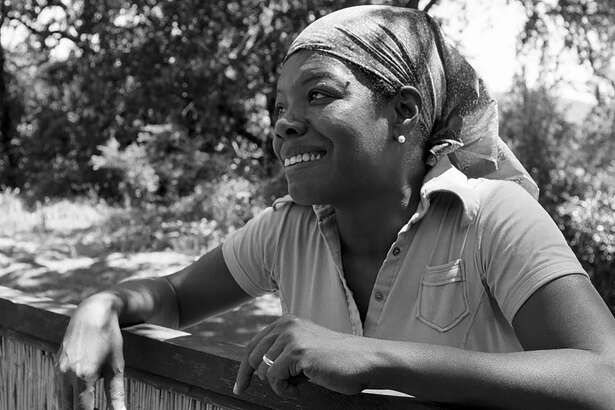 """Maya Angelou in Sonoma, Calif., which she called home during the late '70s and early '80s. Her multi-faceted life, which took her from Missouri to Georgia to Europe and even to the Alamo City, is depicted in the fascinating PBS documentary """"And Still I Rise."""""""