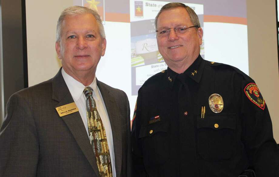 The Central Fort Bend Chamber February Breakfast included Chief Dallis Warren, Rosenberg Police Department, and Chief Gary Adams, Richmond Police Department. Photo: Central Fort Bend