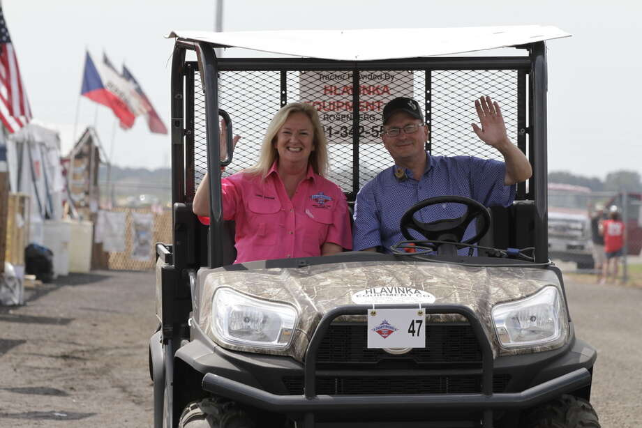 Cindy Schmidt and her husband Darren at the 2016 Fort Bend County Fair. She recently was named manager of the Fort Bend County Fair. Photo: Fort Bend County Fair