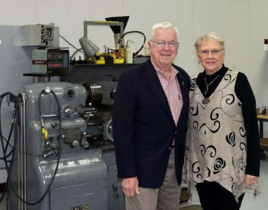 Texas State Technical College Regent Joe M. Gurecky and his wife Doris recently gave a $100,000 donation to the college to be used for student scholarships. Photo: Texas State Technical College