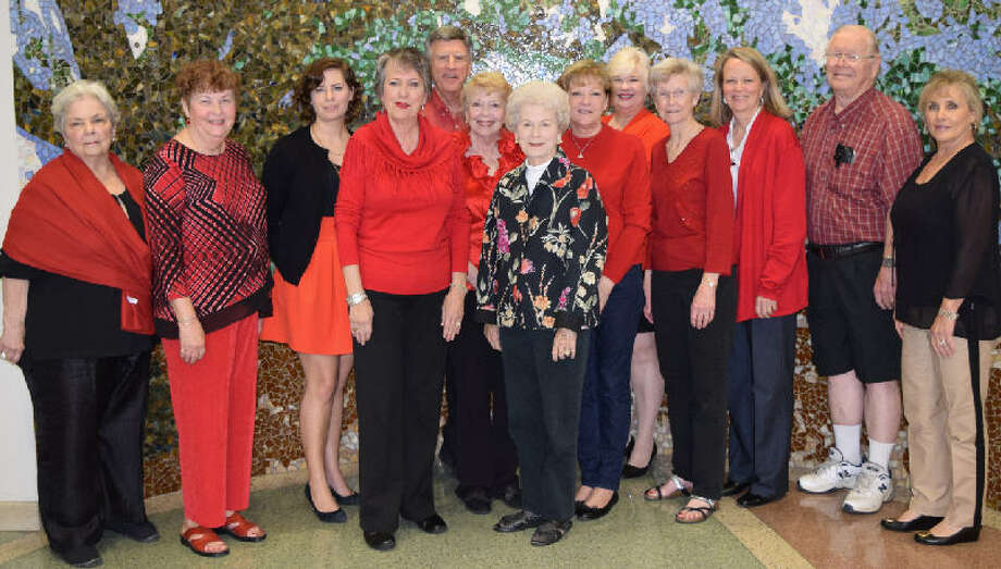 OakBend Medical Center will be the Private Reserve Port Sponsor for this year's Fort Bend County Wine from the Heart Event. From left are Sandy Scott, Jan McCleskey, Katy Todd, Patricia Orr, Steve Crow, Maggie Crow, Ann Council, Teri Grimes, Linda Drummond, Marian Wright, Marsha Beck, Sandy McCleskey and Sue McCarty Photo: OakBend Medical Center