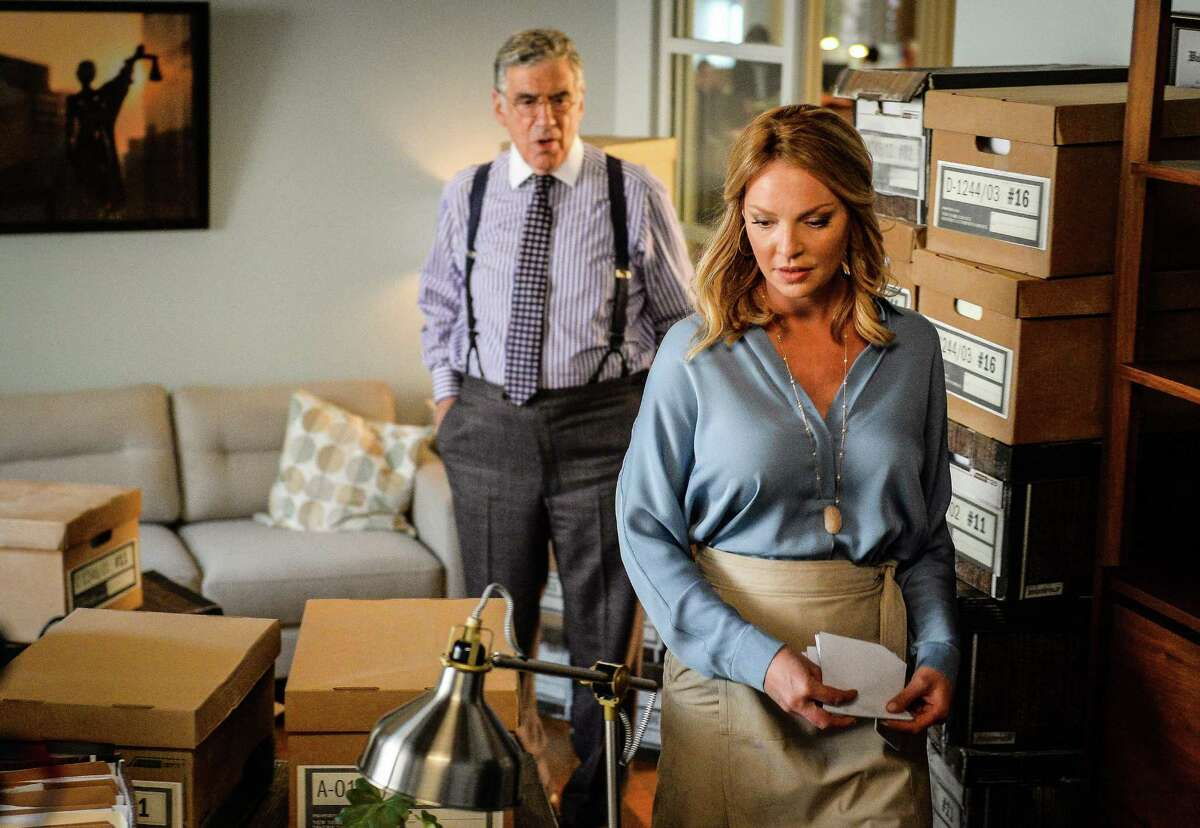 """Elliott Gould is the boss, Katherine Heigl the defense attorney in """"Doubt."""""""