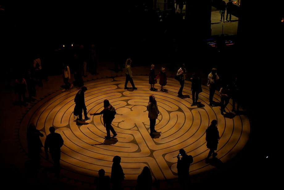 Grace Cathedral's indoor labyrinth Photo: Justin Vincent Lai