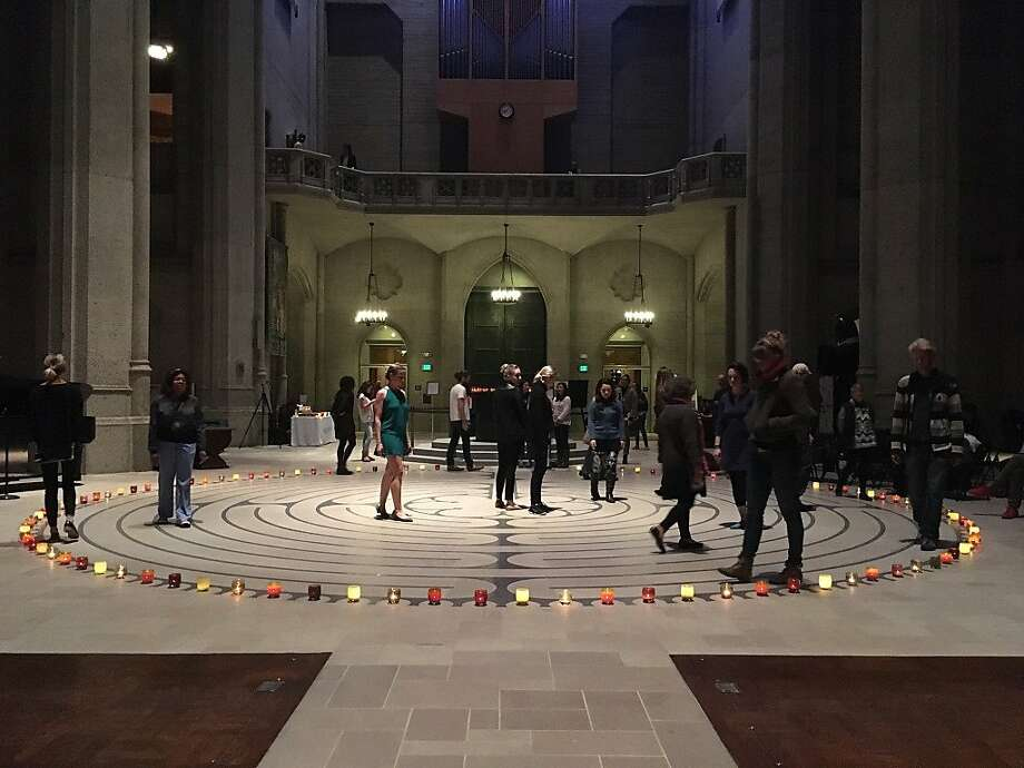 Grace Cathedral's indoor labyrinth Photo: Manna Kanuga
