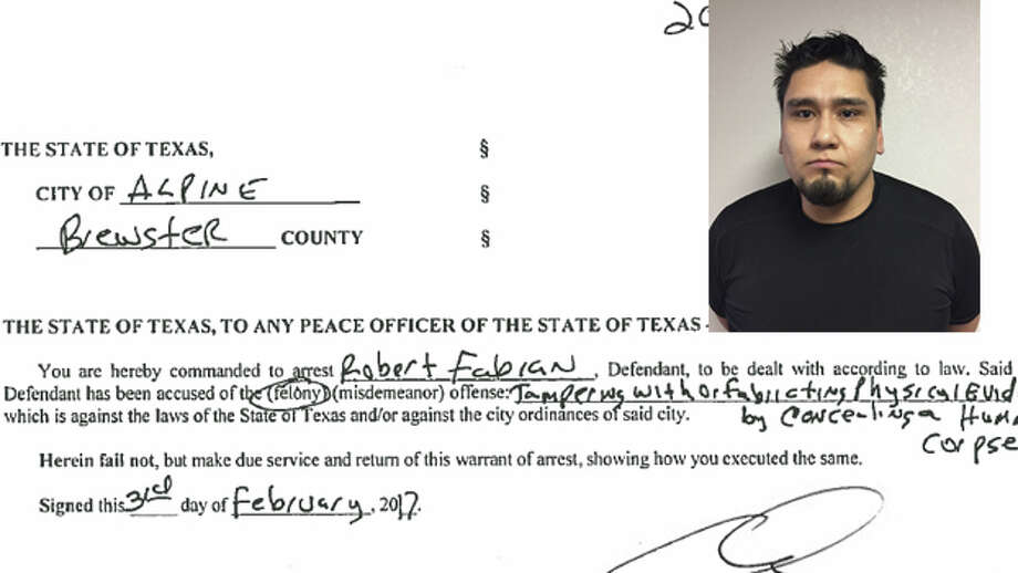 The arrest affidavit for Robert Fabian, who was Verk's boyfriend, provides a police account of the chaotic hours and days that followed Verk's disappearance, specifically following the actions of Fabian and his friend, Chris Estrada. Click ahead for a timeline of the key events and points from the report. Photo: City Of Alpine, Brewster County